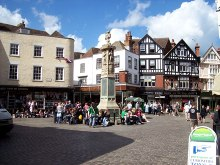 Canterbury, The Butter Market square, Kent © Len Williams